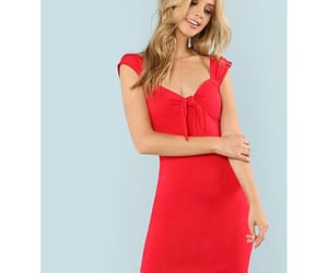 clothing, red dress, and shein image