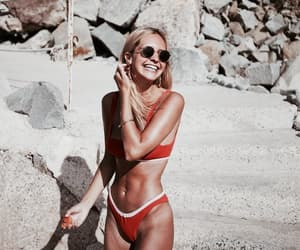 bikini, tropical, and blonde image