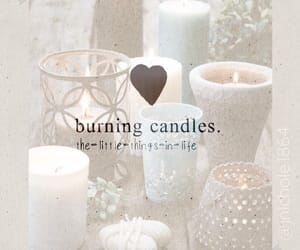 calm, candles, and little things image