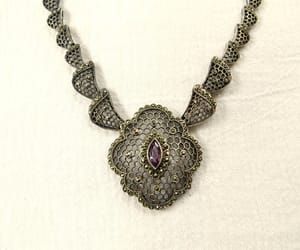etsy, antique necklace, and amethyst necklace image