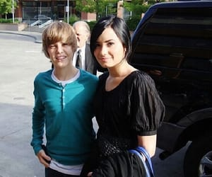 demi lovato, justin bieber, and throwbacks image