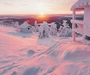 finland, snow, and sun image