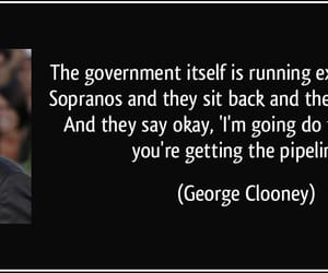 george clooney, government, and sopranos image