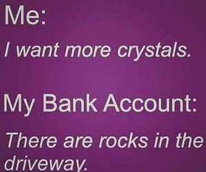 crystals, rocks, and gimme gimme gimme image