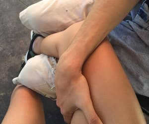 couple, hands, and legs image
