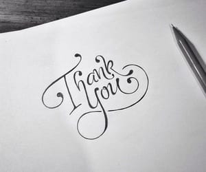 handwriting, thank you, and Paper image