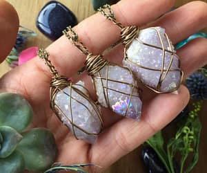 amethyst, boho, and crystal image