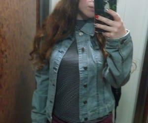girl, denimjacket, and summervibes image