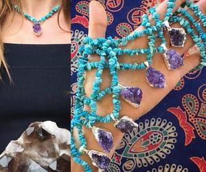 boho, crystal jewelry, and etsy image