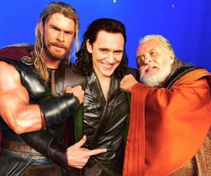 Marvel, loki, and chris hemsworth image
