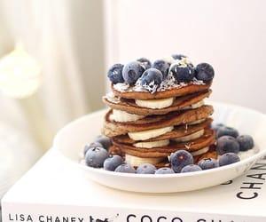 berries, food, and pancakes image
