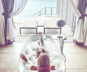 bath, beach, and beach house image