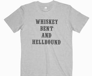 bent, t shirt, and whiskey image