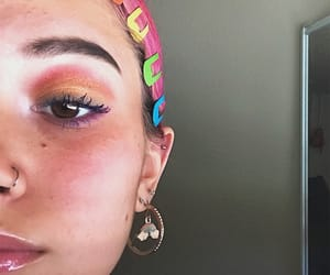 clips, rainbow, and piercing image