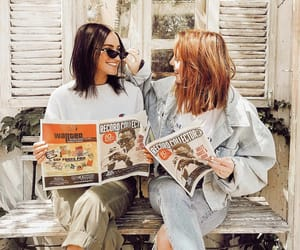 beautiful, friendship, and red hair image