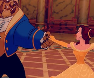 disney, beauty and the beast, and dance image