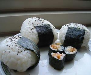 sushi, food, and onigiri image