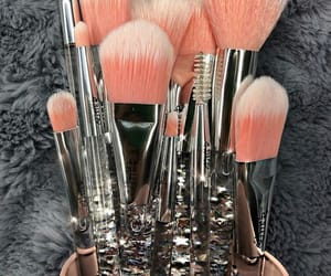 Brushes, make up, and glitters image