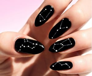 black, constellation, and nails image