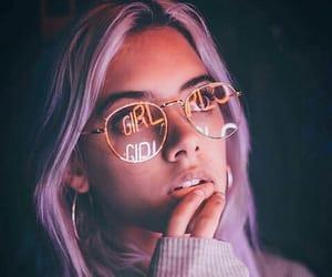 girl, aesthetic, and purple image