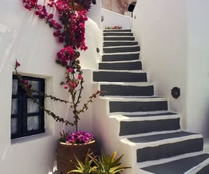architecture, santorini, and summer image