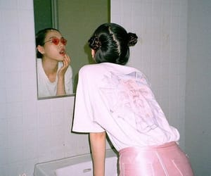 aesthetic, pink, and grunge image