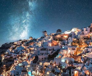 night, Greece, and architecture image