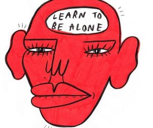 red, alone, and quotes image