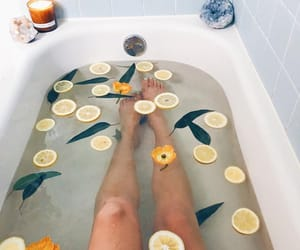 bath, candles, and luxury image