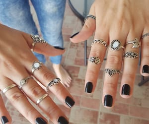 boho, jewelry, and nails image