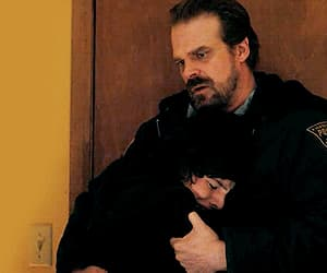 stranger things, finn wolfhard, and david harbour image