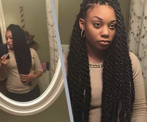 braids, senegalese, and hairstyle image