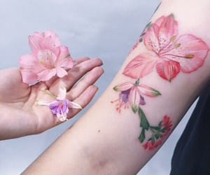 aesthetics, tattoo, and flower image