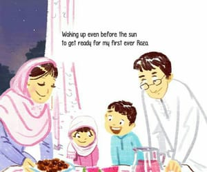 family, muslims, and suhoor image