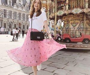 chanel bag, girl, and pink image