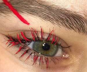 red, eyes, and aesthetic image