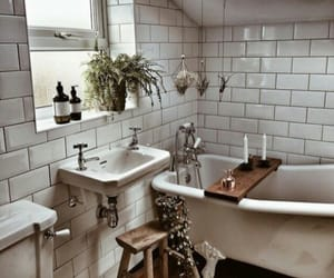 bathroom, boho, and decor image
