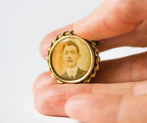 etsy, memorial jewelry, and portrait brooch image
