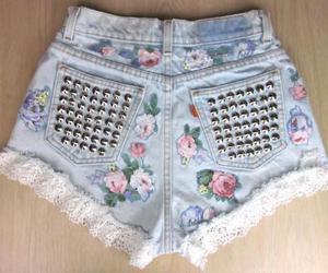 fashion, shorts, and flowers image