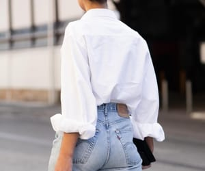 brunette, jeans, and outfit image