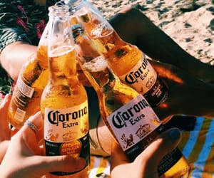 beer, summer, and beach image