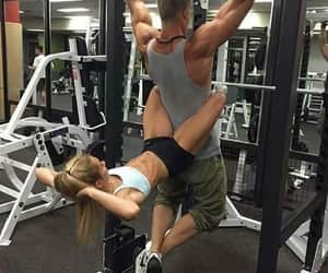 fitness, couples goals, and gym image