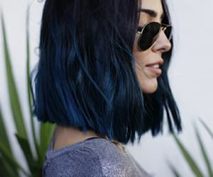 blue, girl, and hairstyle image