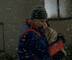couple, snow, and tv show image