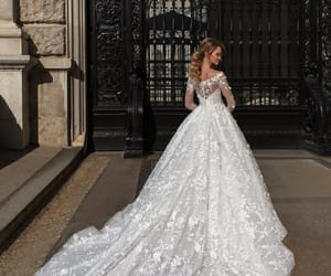 beautiful, bride, and marriage image