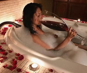 bath, candels, and fun image