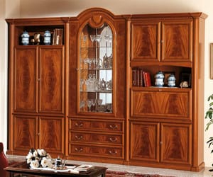 wall unit, traditional wall unit, and cherry wall unit image
