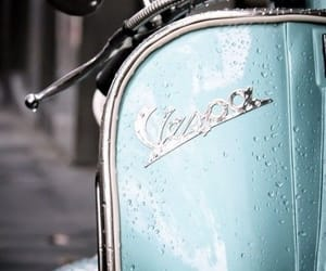 Vespa, blue, and italy image
