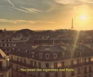 paris, quotes, and cigarette image