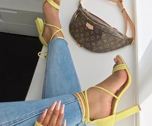 heels, bag, and luxury image
